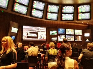 Aria Sports Book During College Football Kickoff Weekend