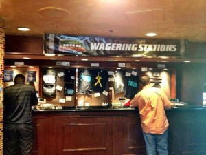Wagering Station Just Outside of Theater