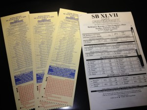 LVH Super Bowl Prop Sheet & Parlay Cards