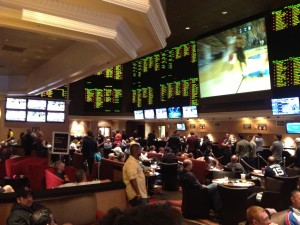 Big Crowd at the Monte Carlo Sports Book for March Madness