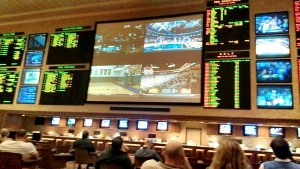 Mandalay Bay Sports Book Screens - Yuck