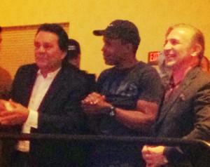 Robert Duran, Sugar Ray Leonard, and Ray Boom Boom Mancini at The Venetian Boxing Viewing Party