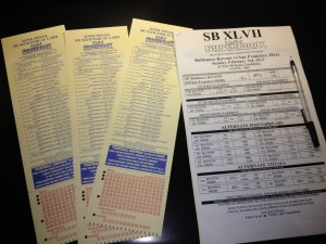 LVH Parlay and Prop Sheets from Super Bowl 46 Last year