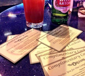 Orleans Sports Book Drink Tickets