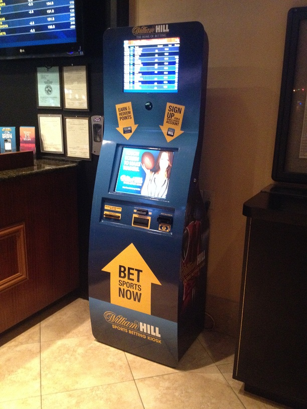Kiosks Help Beat the Lines and are Open 24 hrs. (William Hill kiosk at The D shown)