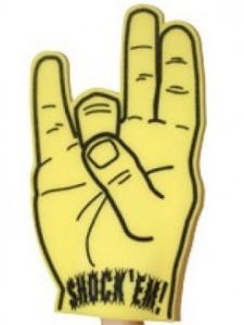 Wichita State Foam Finger - Vegas Sports Books Will Lift a Different Finger if Wichita State wins March Madness