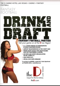 Have your Fantasy Football Draft at The D Las vegas