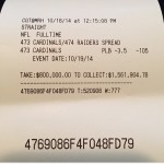 Floyd Mayweather's $800,000 Las Vegas Sports Book Betting Ticket