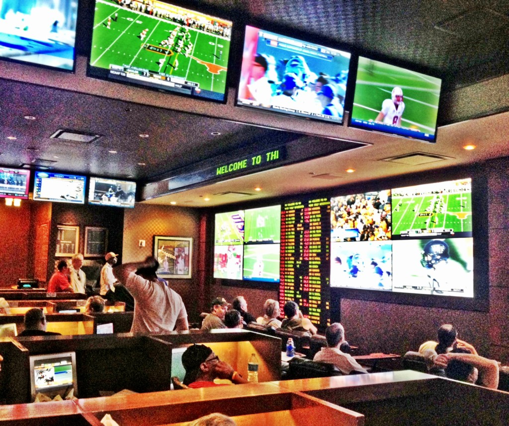 College Football Being Shown at the Golden Nugget Sports Book