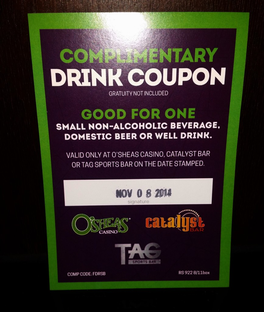 Linq Sports Book Drink Ticket