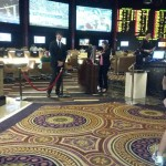 The Velvet Rope Entrance to the Caesars Palace Sports Book.