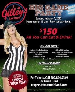 Gilliey's at Treasure Island Big Game Party