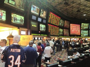 Long Lines at the Sports Book is the Norm on Super Bowl Sunday. Bet Early!
