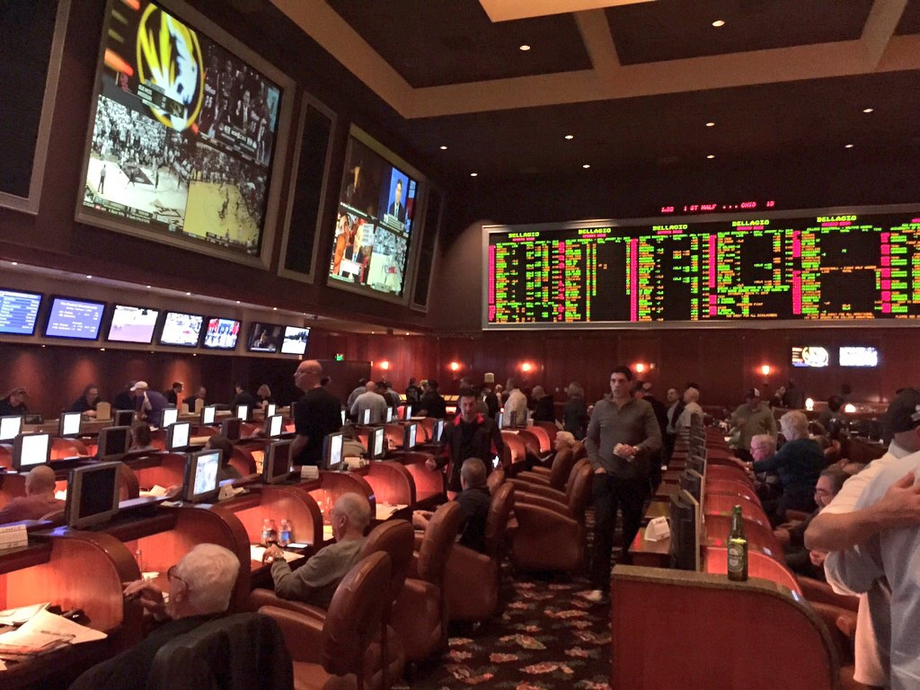 Bellagio Sports Book Day Prior to Super Bowl