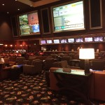 The New Lounge Set Up at the Bellagio Sports Book