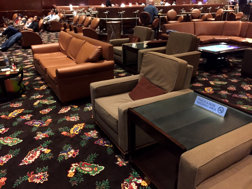 New Lounge Chairs & Sofas at Bellagio Sports Book. Fancy, Yes?