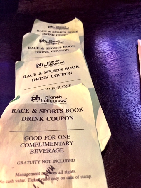 Planet Hollywood Sports Book Drink Tickets