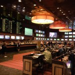 The Old School Look of the Harrah's Sports Book Is No More as a Current Remodel Will Modernize the Space