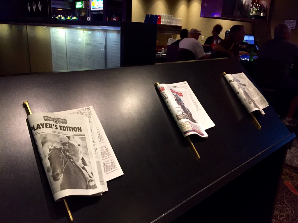 Community Racing Forms at the Sports Book