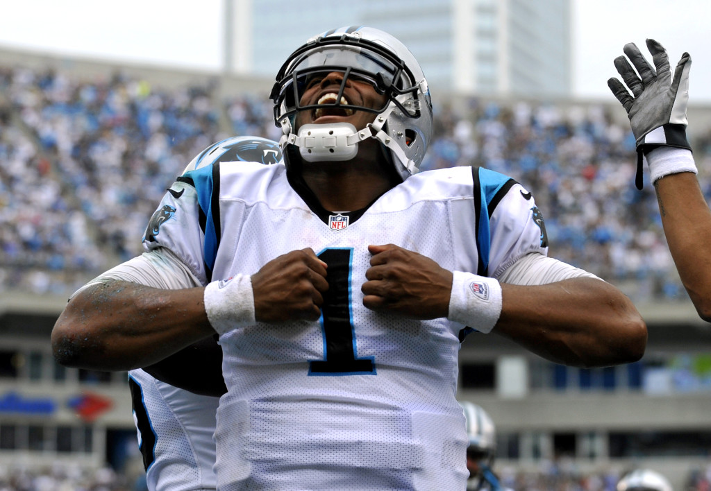 Cam Newton's Carolina Panthers Getting all of the Money at Las Vegas Sports Books (photo credit AP)