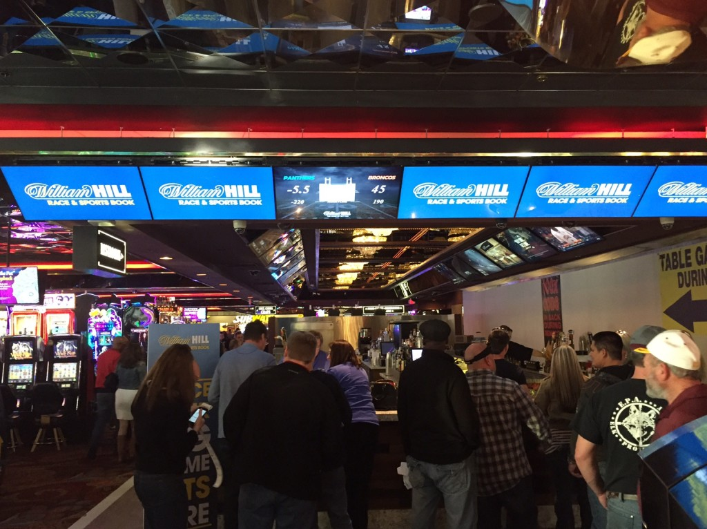 The Casino Royale Sports Book/Betting Counter Gives William Hill a presence on the Vegas Strip