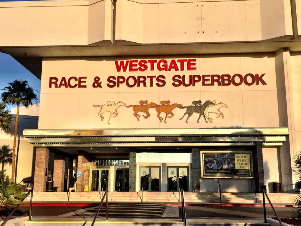The Marquee at the Rear Parking Entrance of the Westgate Super Book Las Vegas
