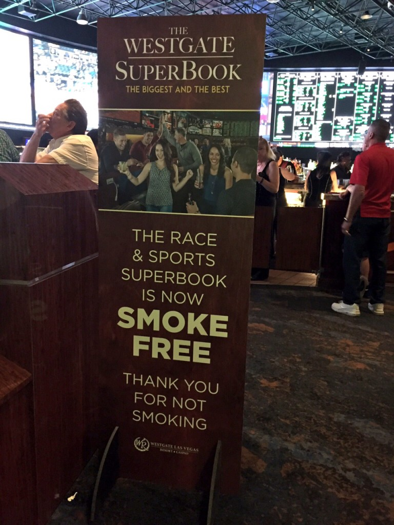 Westgate Super Book  the Latest in a Long Line of Las Vegas Sports Books to go Non-Smoking