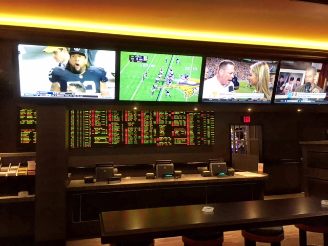 Betting Counter at the New California Sports Book Downtown