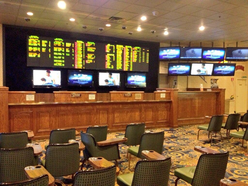 The Old Sports Book Set Up at The California