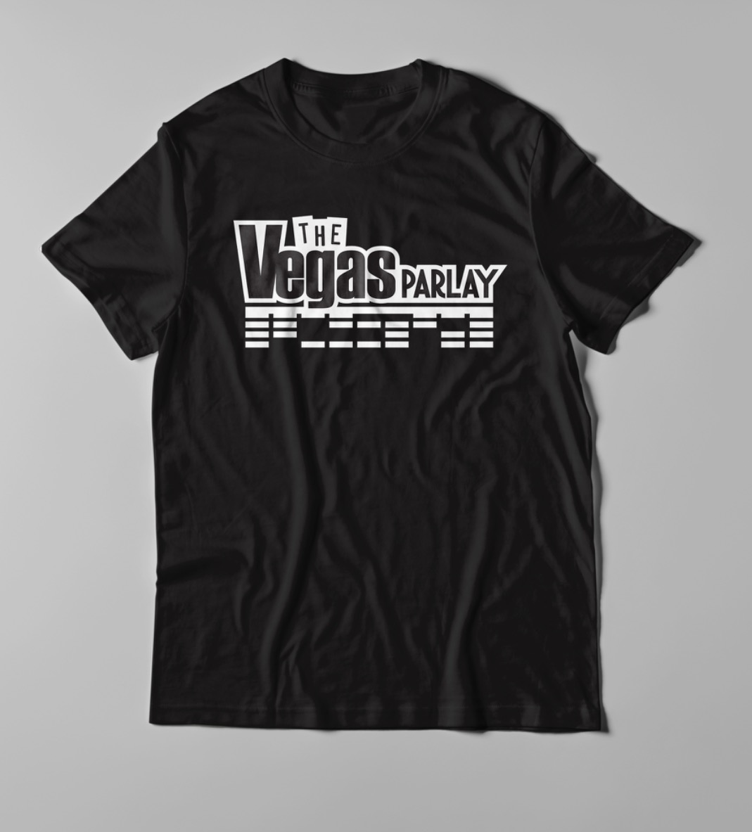 The Vegas Parlay Official Tee Shirt Will Bring Luck at the Sports Book!    Med thru XXL    ***** $20 + $5 shipping *****