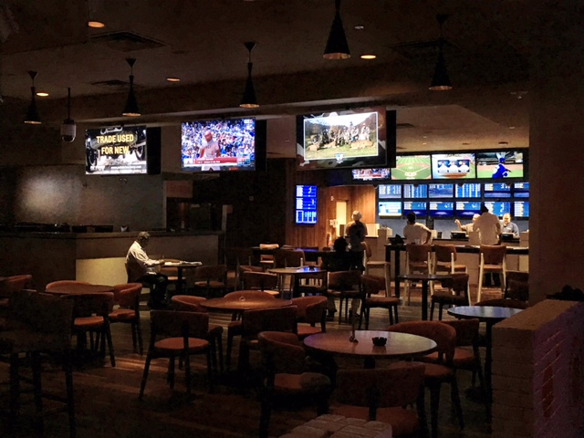 Dark Ambiance at the Hooters Sports Book