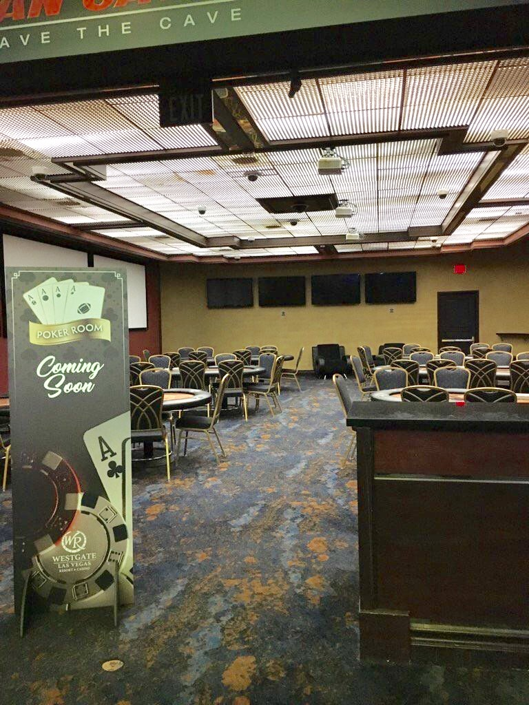 The New Poker Room Located in the Former Fan Cave Space at the Westgate Super Book